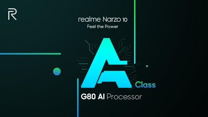Narzo 10 з чіпсетом Helio G80 SoC