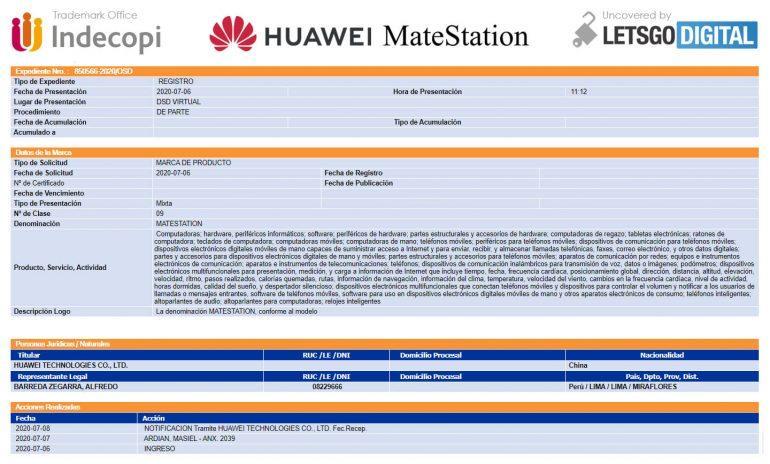 """Huawei запатентували док-станцію """"MateStation"""""""