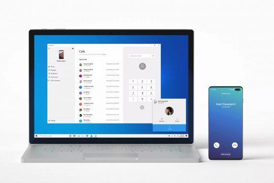 Представлено основні функції програми Microsoft Your Phone